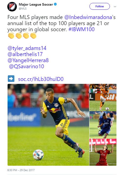 MLS Twitter, December 2017