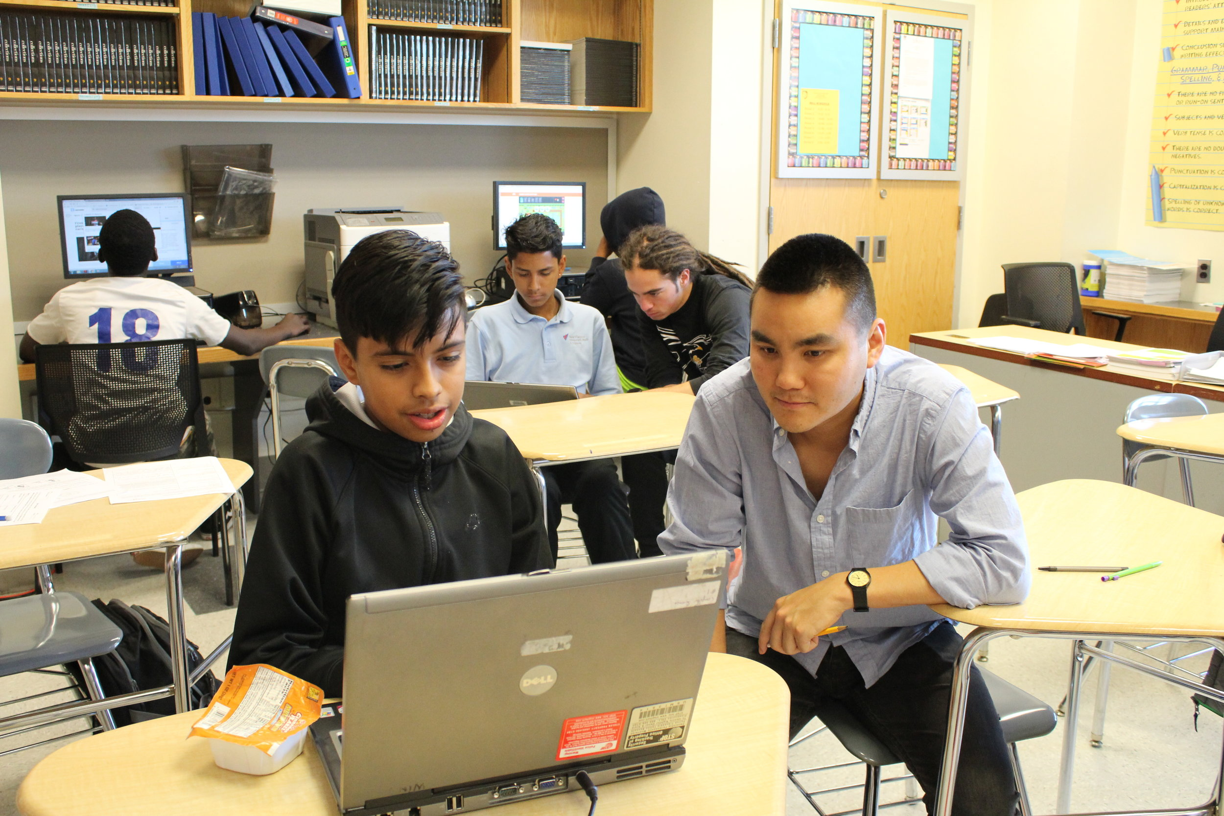 Along with its fútbol program, South Bronx United has an educational curriculum which helps youths with school work, test preparation and college applications.Kervy Robles for After the Final Whistle.