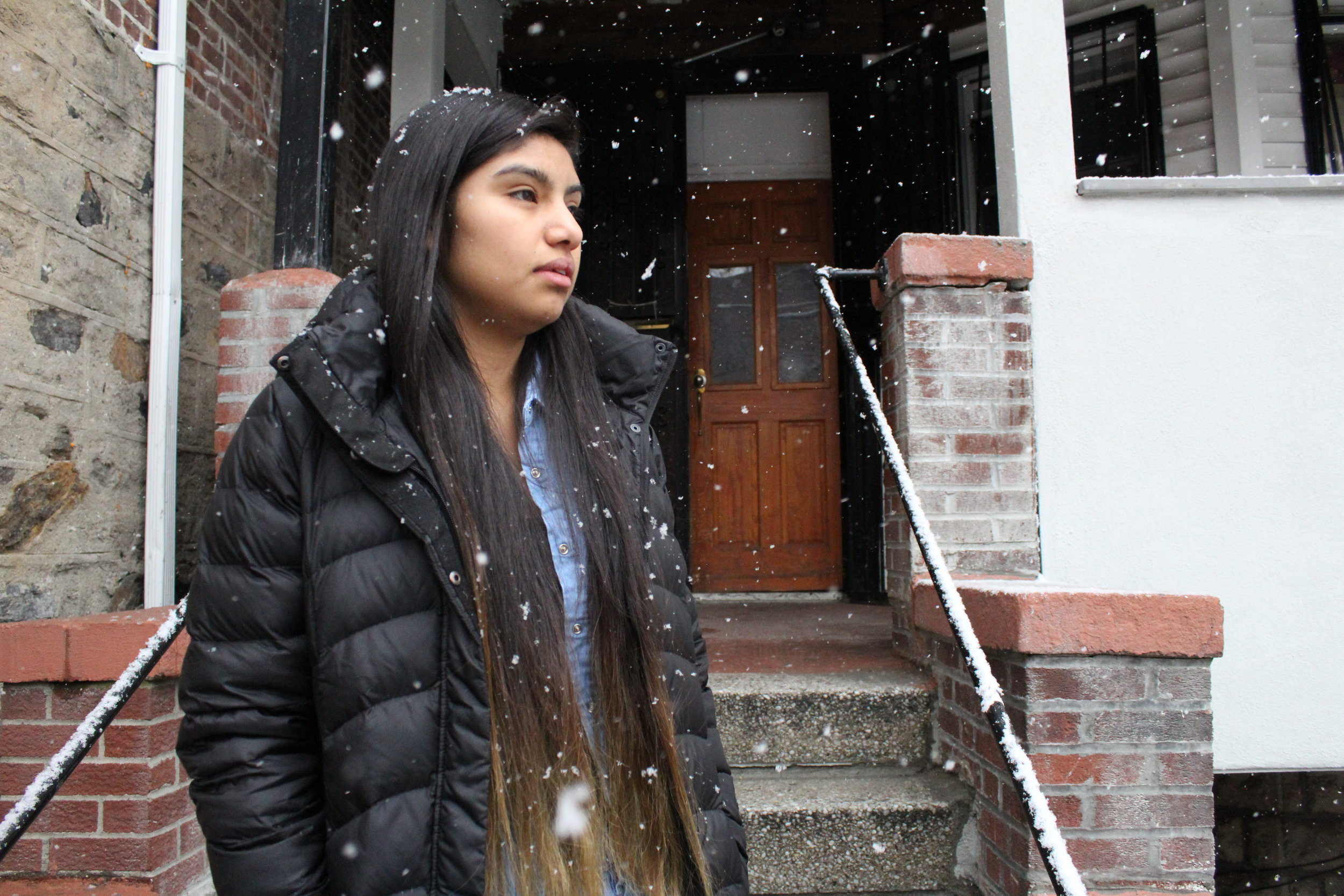 In a snowy day in December, Anayeli, 19, a South Bronx United alumna, contemplated about the challenges she has confronted since her arrival in the United States in 2012.Kervy Robles for After the Final Whistle.