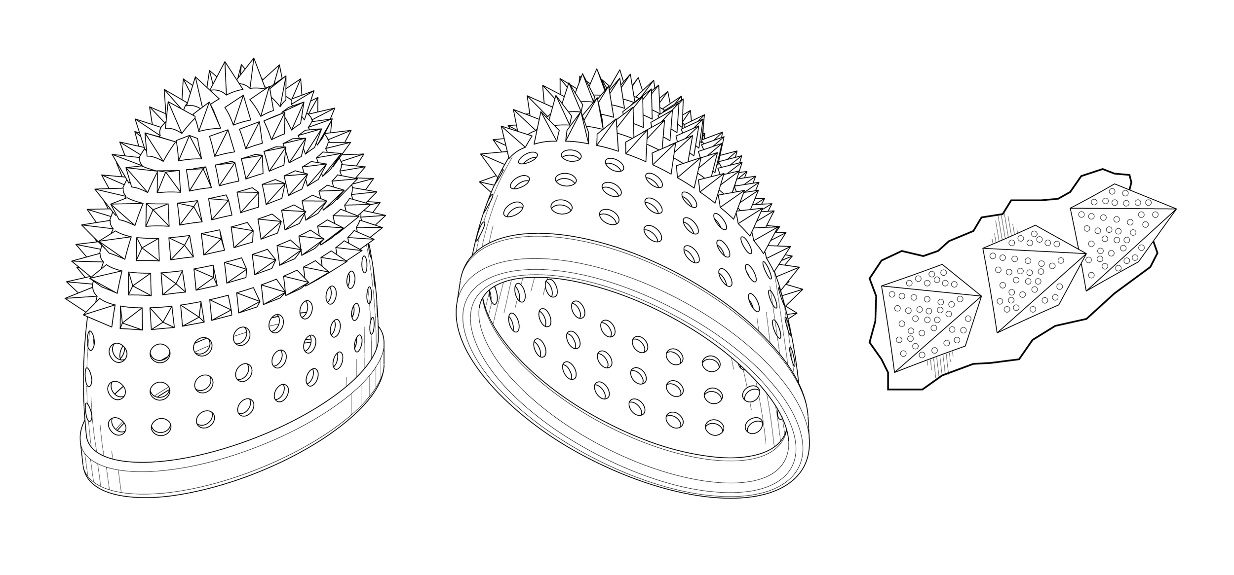 Illustrations of one of the embodiments.