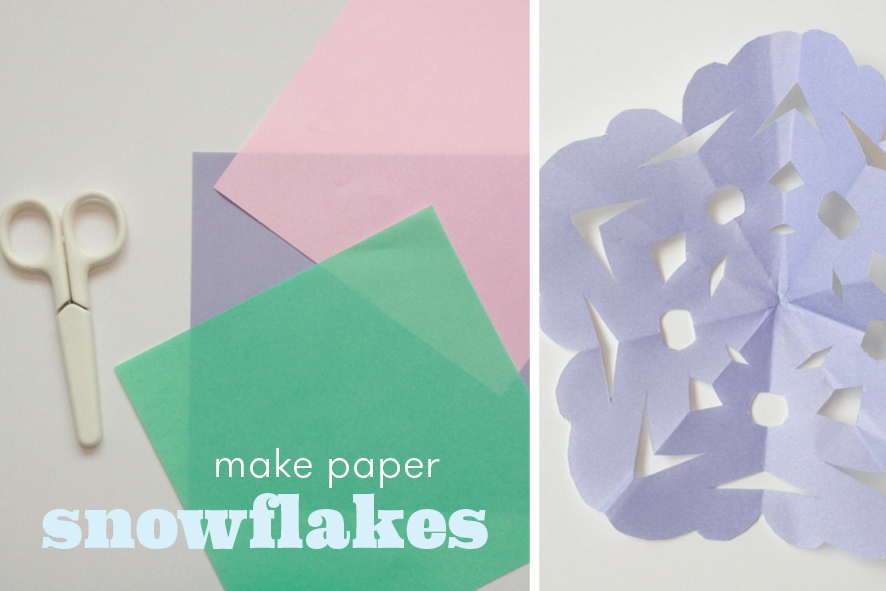 how to make simple paper snowflakes