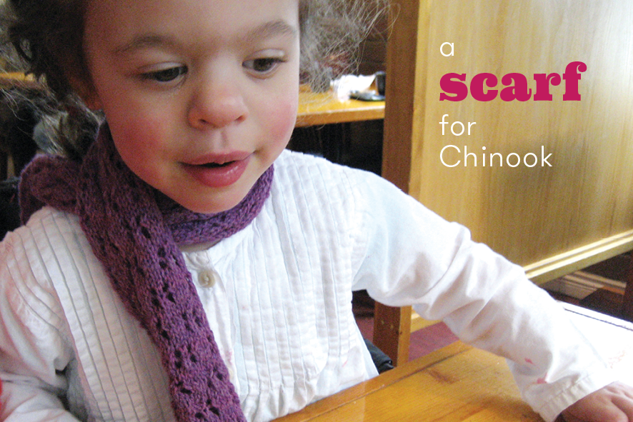 A simple free scarf pattern, sized for children