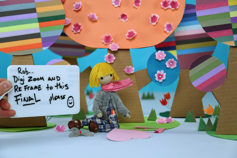 "On set — shooting episode 6, ""Windy's Valentine"". We have polite boards :)"