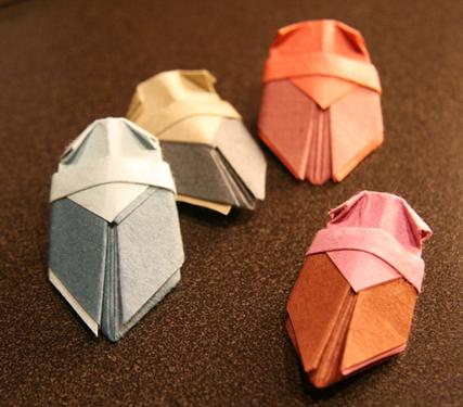 origami cicadas