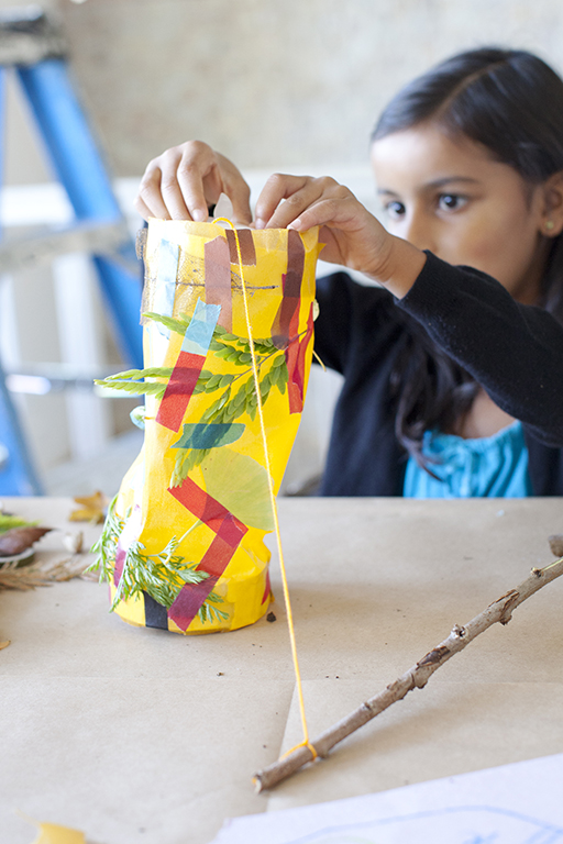 In the winter, it is dark outside! Let's make an easy paper lantern.