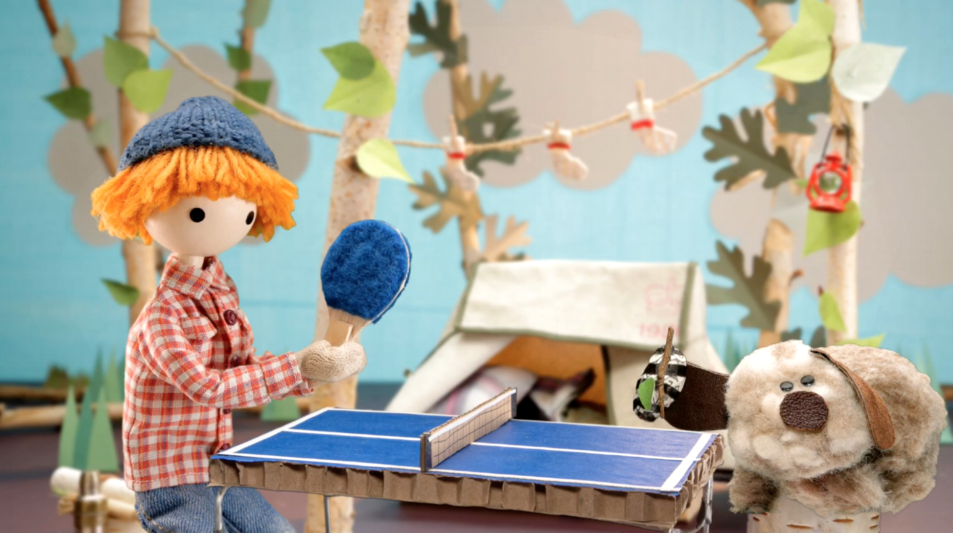 Play Easter egg ping pong with Jean Cloud & Foggy