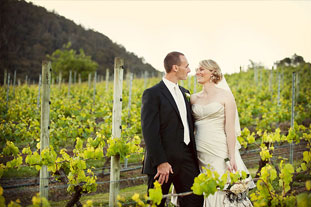 Lynsey & Geoff  • 5 November 2011 Home Hill Winery