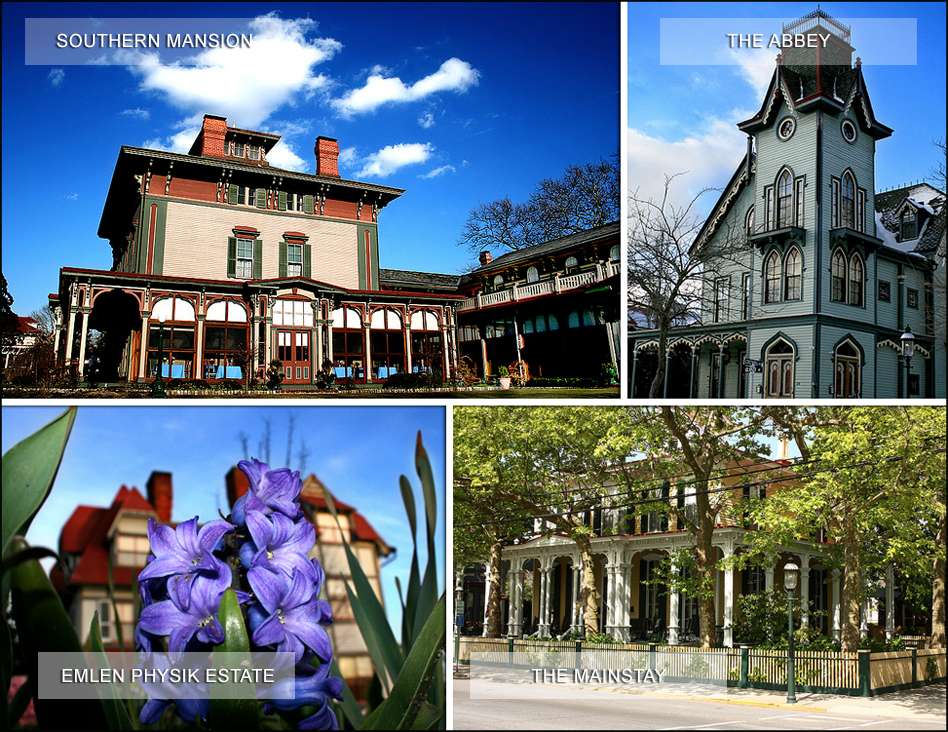 Our home is surrounded by incredible victorian architecture — The Mainstay and Southern Mansion are a block away, the Abbey is 3 blocks, and the Physick Estate is a short walk down Washington St.