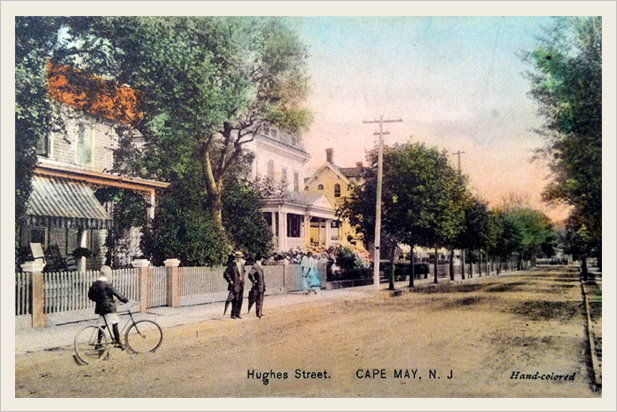This post card is so cool!We are looking down Hughes Street, so our house is on the right down about 50 yards. The streets seemed so much wider back then. The houses here are pretty much the way they were over a hundred years ago.