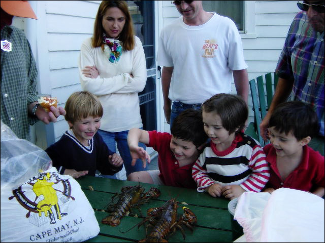 For our friends and family, the traditional lobster and seafood feast over the Memorial Day weekend was always the start of the Cape May summer beach season. It's a great time and place to share with your kids.