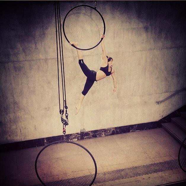 Aerial hoop fo r Nike Pro Bra  Product launch in Paris, choreography by  Ella Robson Guilfoyle.