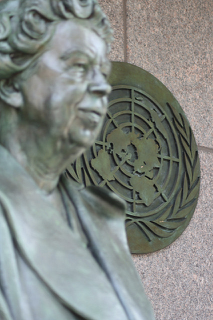 Eleanor Roosevelt statue, United Nations, NYC