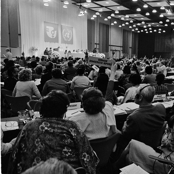 World Conference on Women, 1980, where CEDAW was formally signed (via  Dag Hammarskjöld Library )