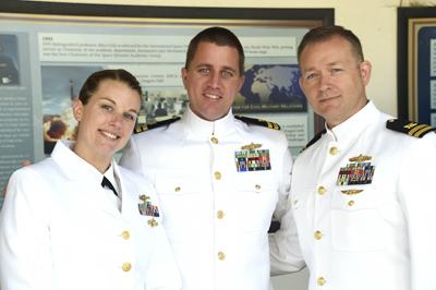 LCDR Krysten Ellis and two fellow officers