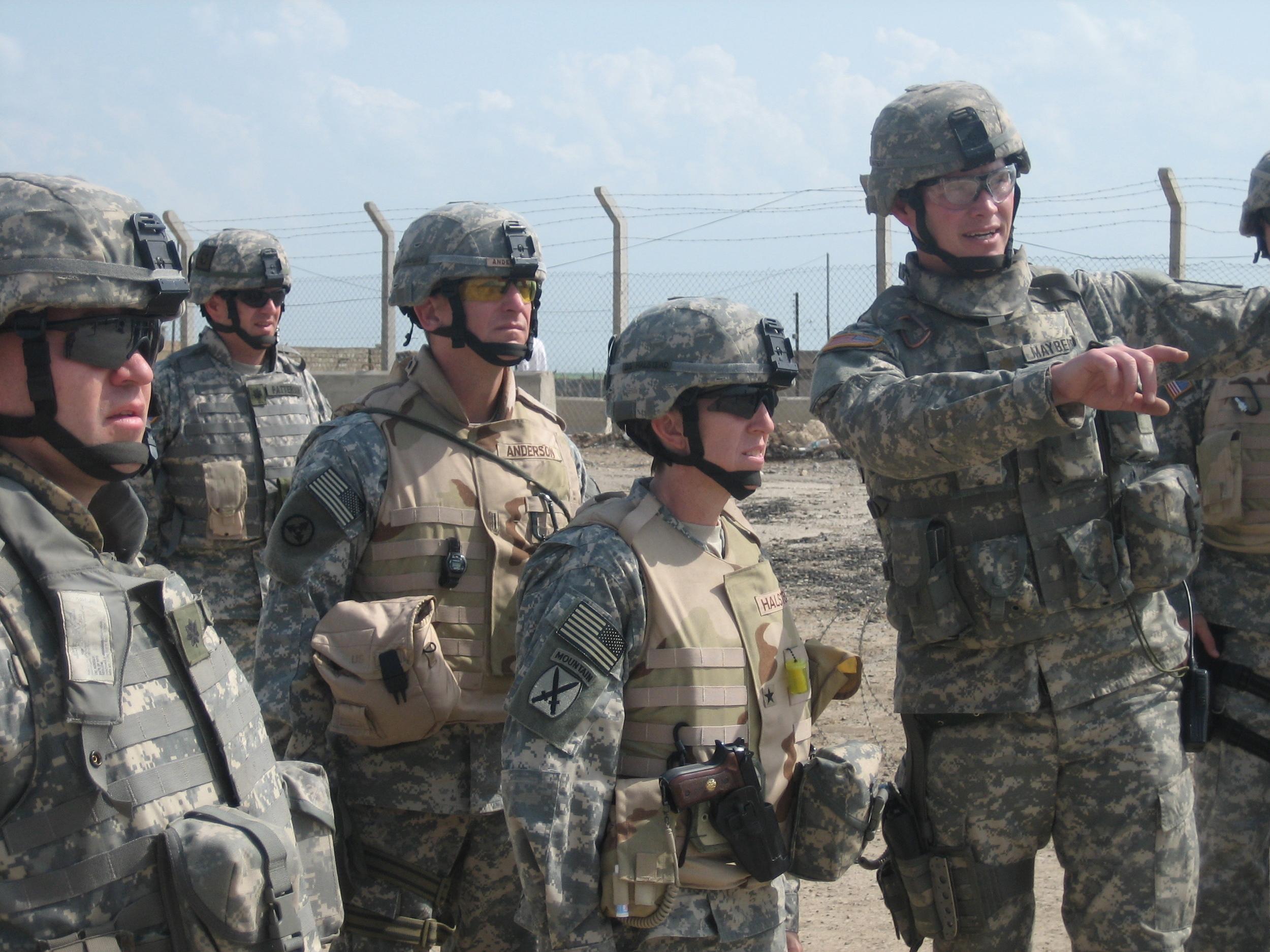 Brigadier General Halstead on the Syrian border