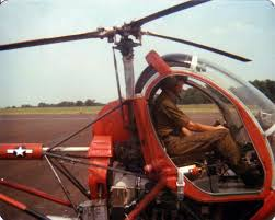 Siebrands at the controls of the TH-55 trainer at Ft. Rucker, 1978