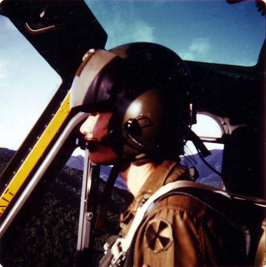 A young Siebrands flying the UH-1 in Korea