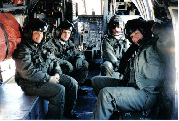 USMC officer and pilot Nothelfer on ship quals