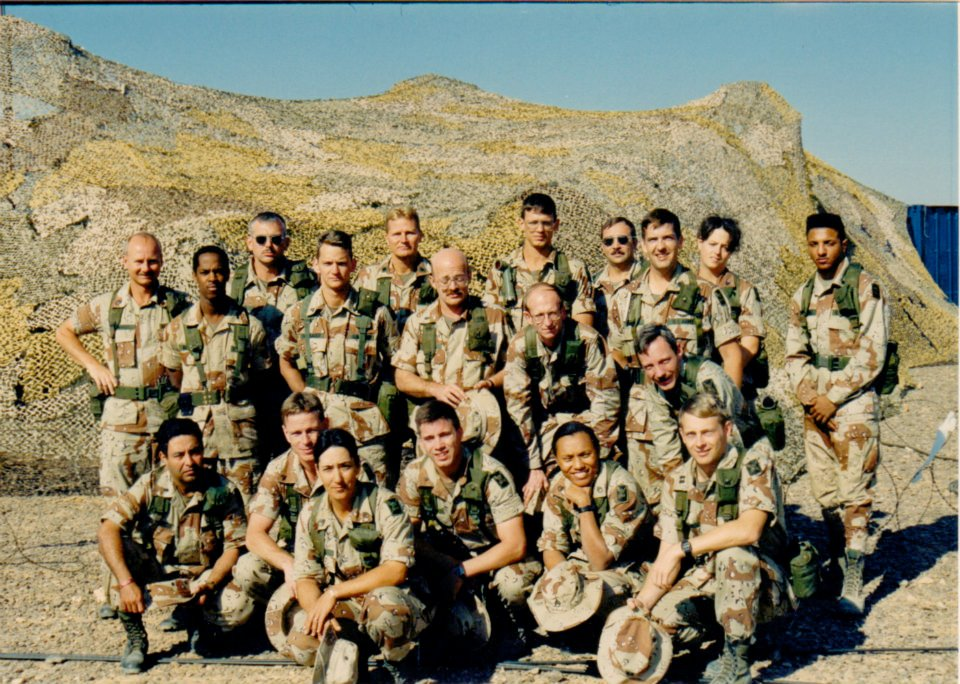 Flett deployed with her soldiers to Egypt in the late 1980s