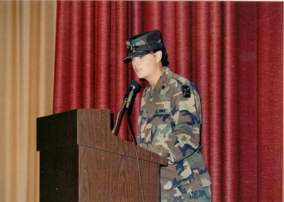 Then Captain Dianna Flett, U.S. Army Military Intelligence