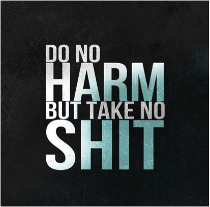Haff's motto is one to live by.