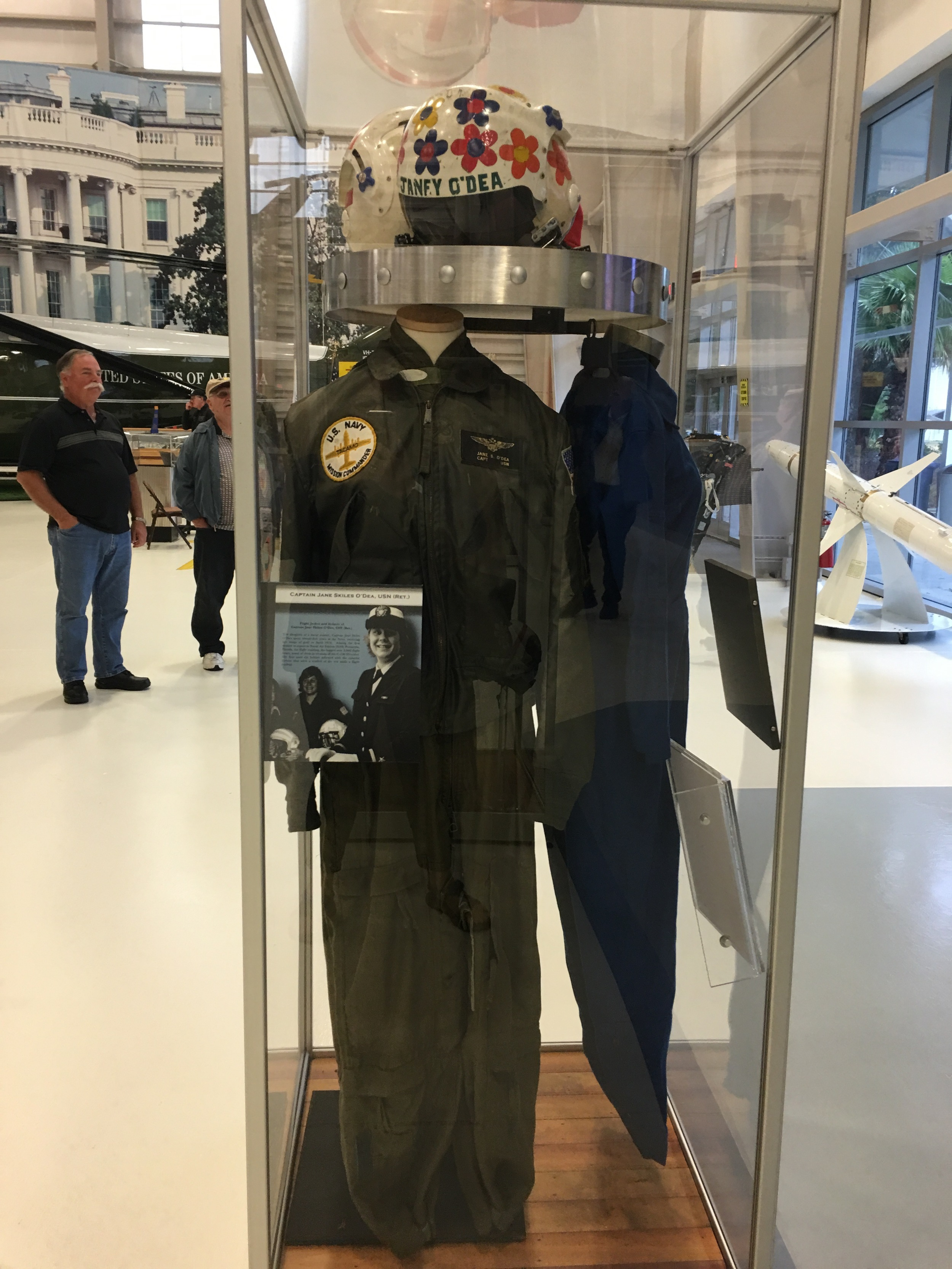 O'Dea's flight suit is in the museum at Pensacola Naval Air Station