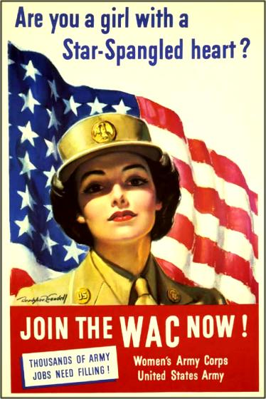 Recruiting poster for the Women's Army Corps