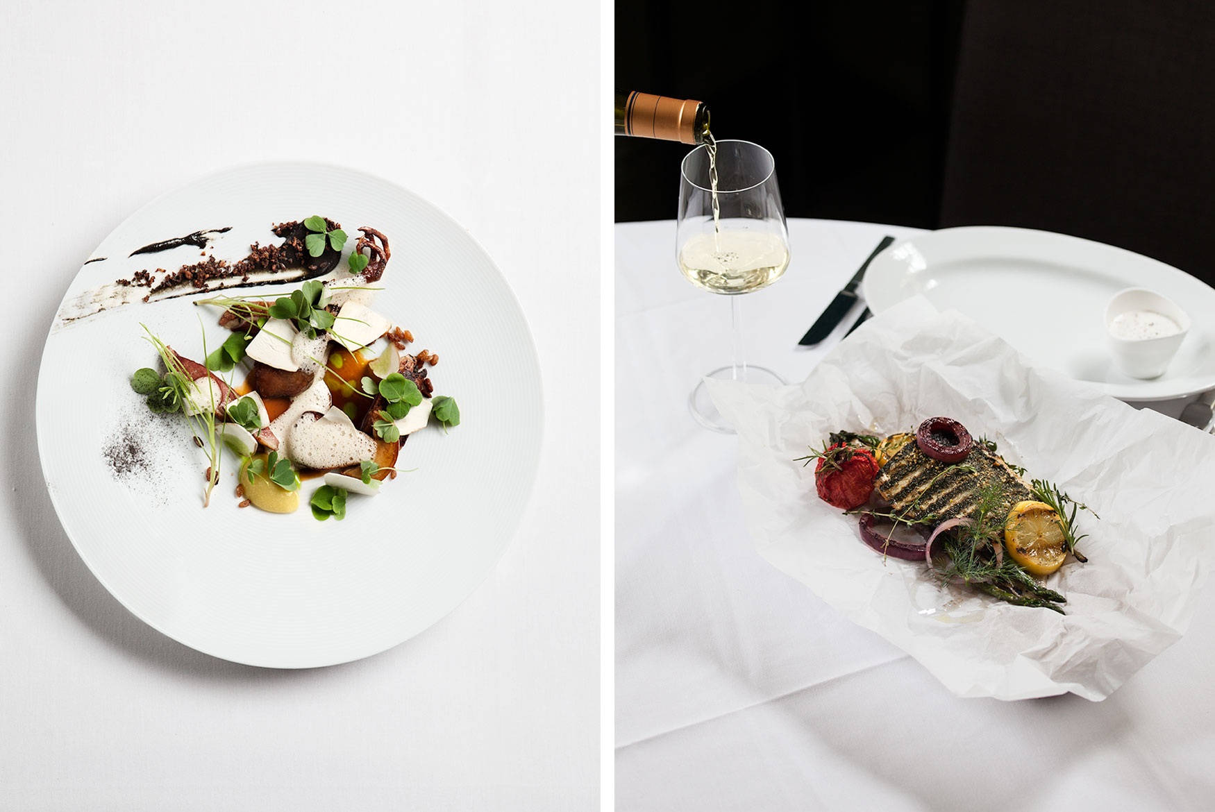 And finally some new food in the  travel  section. The left plate is shot at the Scandinavian restaurant Aquavit in Midtown, NYC. The right one is shot at another Scandinavian institution, The Maidstone in East Hampton, NY. (And yes, I had to eat both dishes, and yes the food was fantastic!)