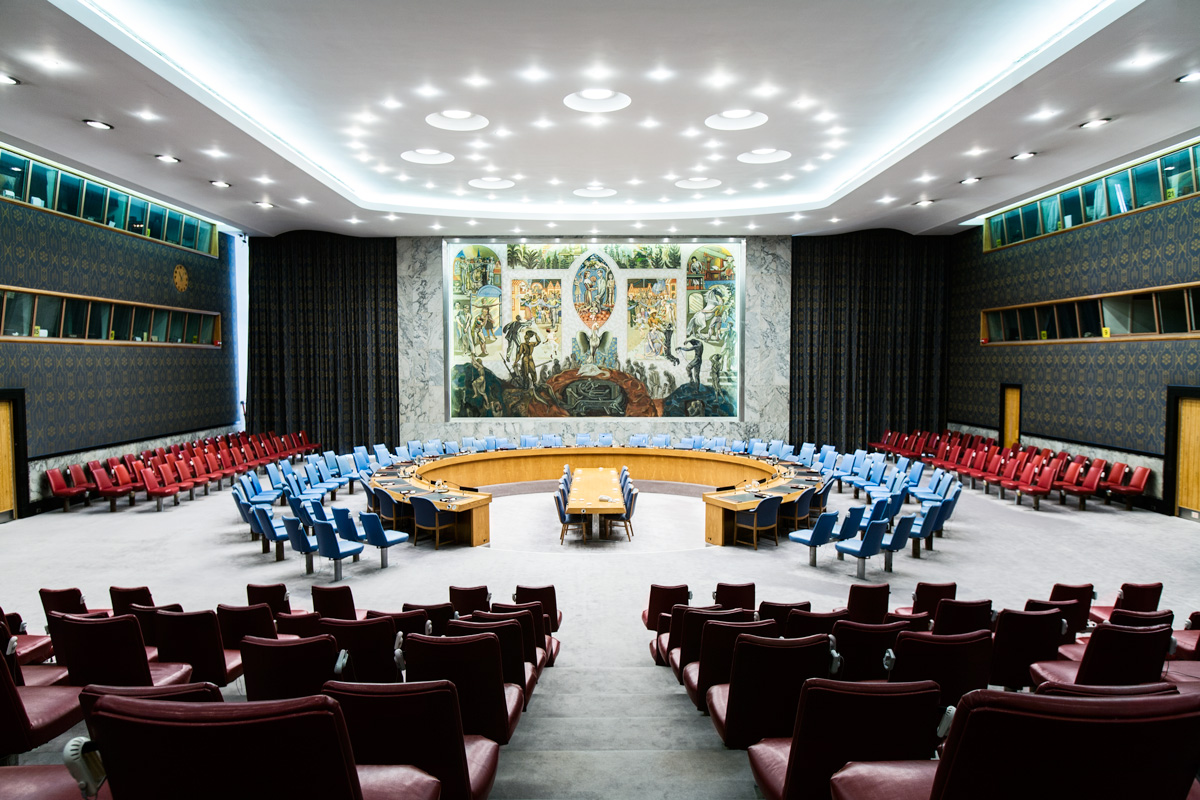 Security Council at the United Nations HQ. Client: Monocle