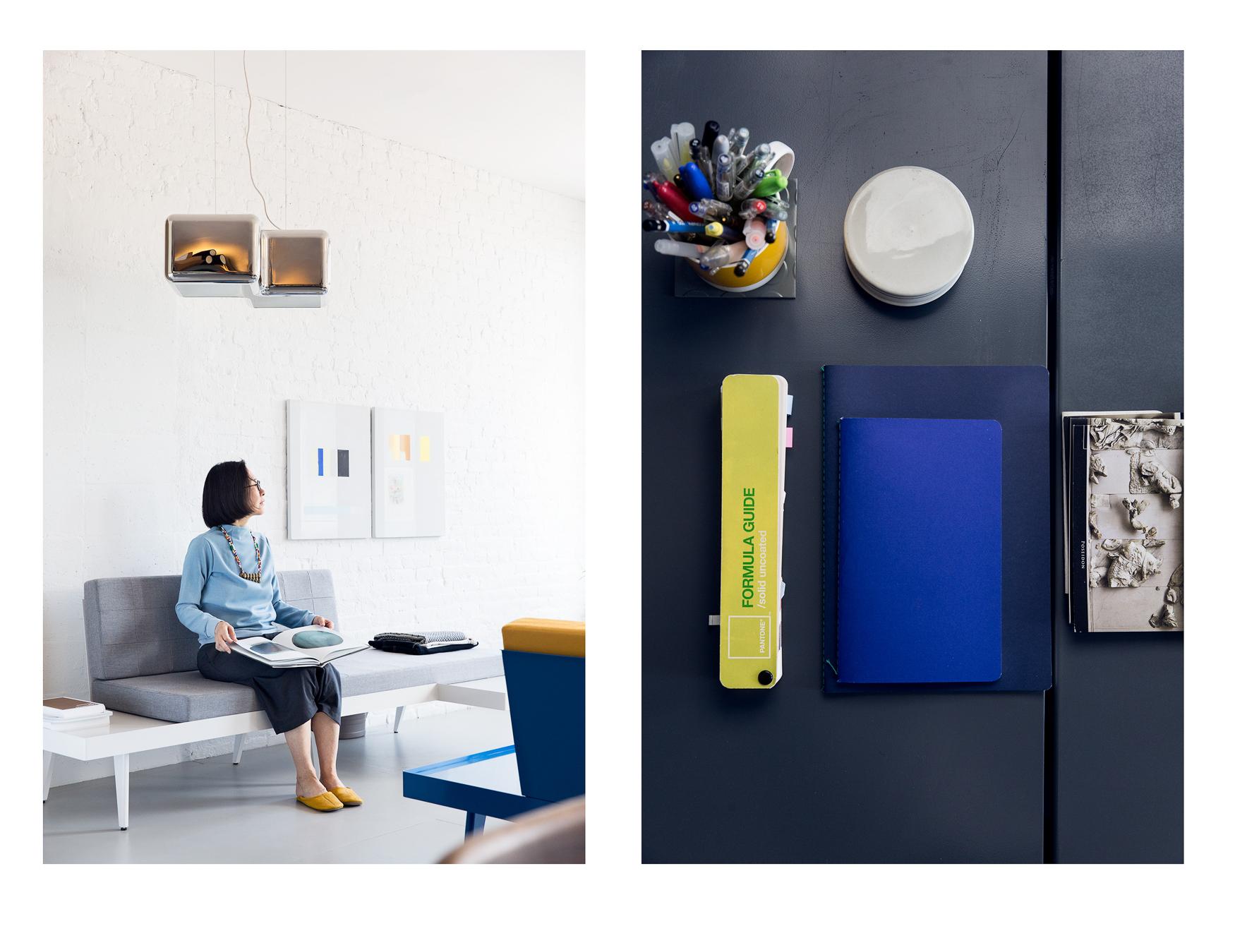 Etsumi Imamura in her Manhattan Studio