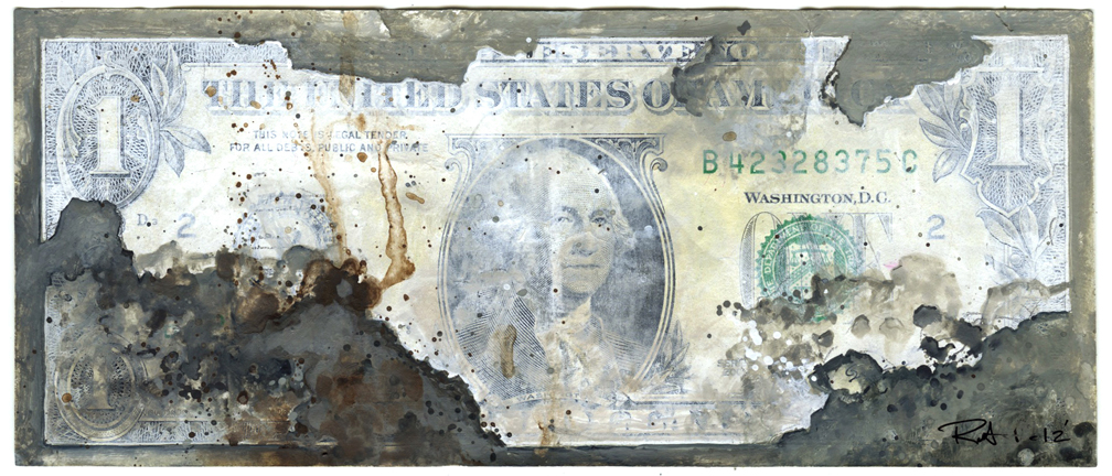 Faded_One Dollar Bill