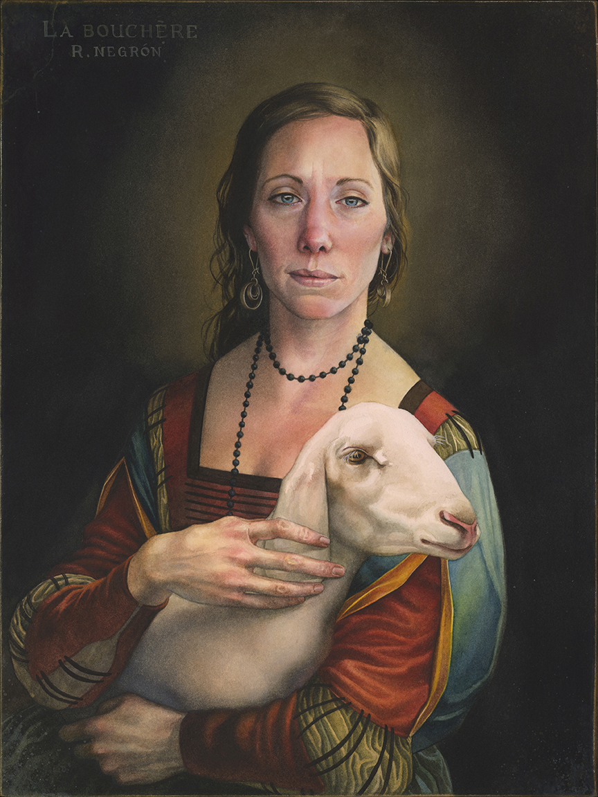 The Butcher (after 'Lady With An Ermine')