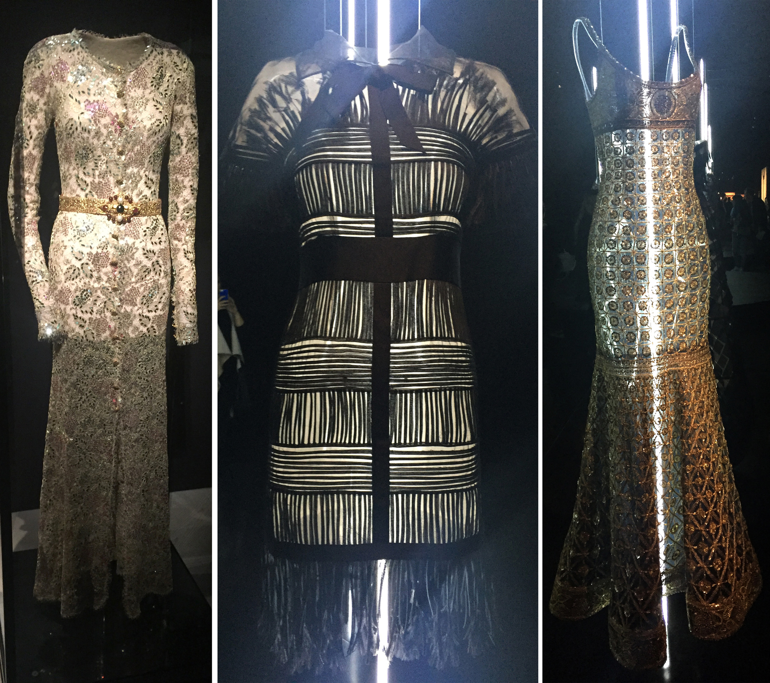 Some of my favourite couture dresses from the exhibition. The dresses were lit internally which showed the tiniest detailing.
