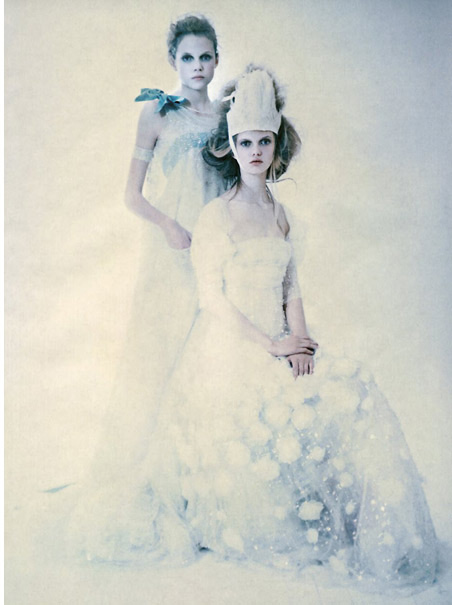 Paolo Roversi used polaroid film in his shoots which give his images a very distinct dreamlike quality Image link: fadedandblurred.com