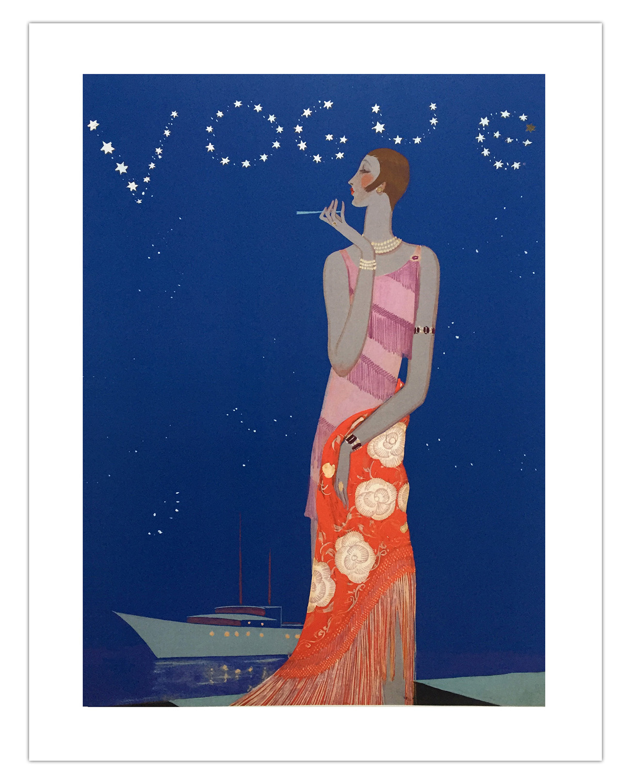 Print I purchased at the exhibition. Image is 'Vogue Constellation' illustrated by Eduardo Benito in 1926