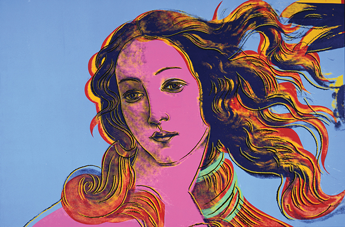 Birth of Venus, Andy Warhol 1984