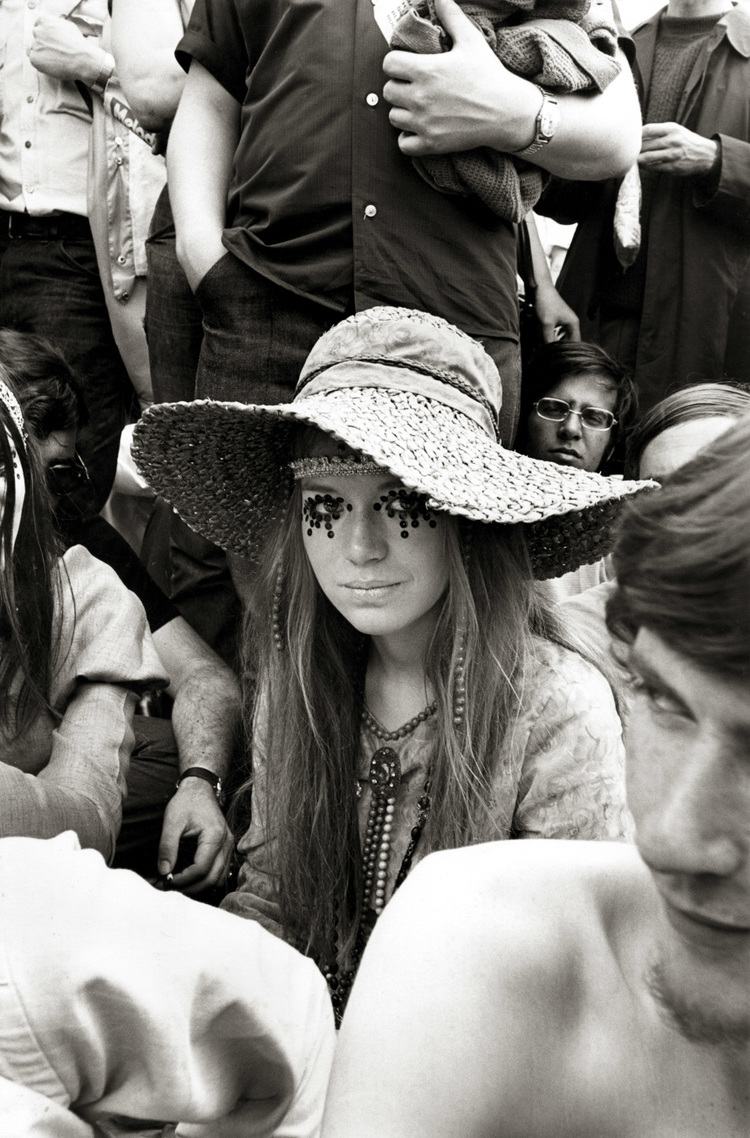 Part of the Scene  (Girl at Rolling Stones Concert)  Frank Habich t, 1969 © Frank Habicht