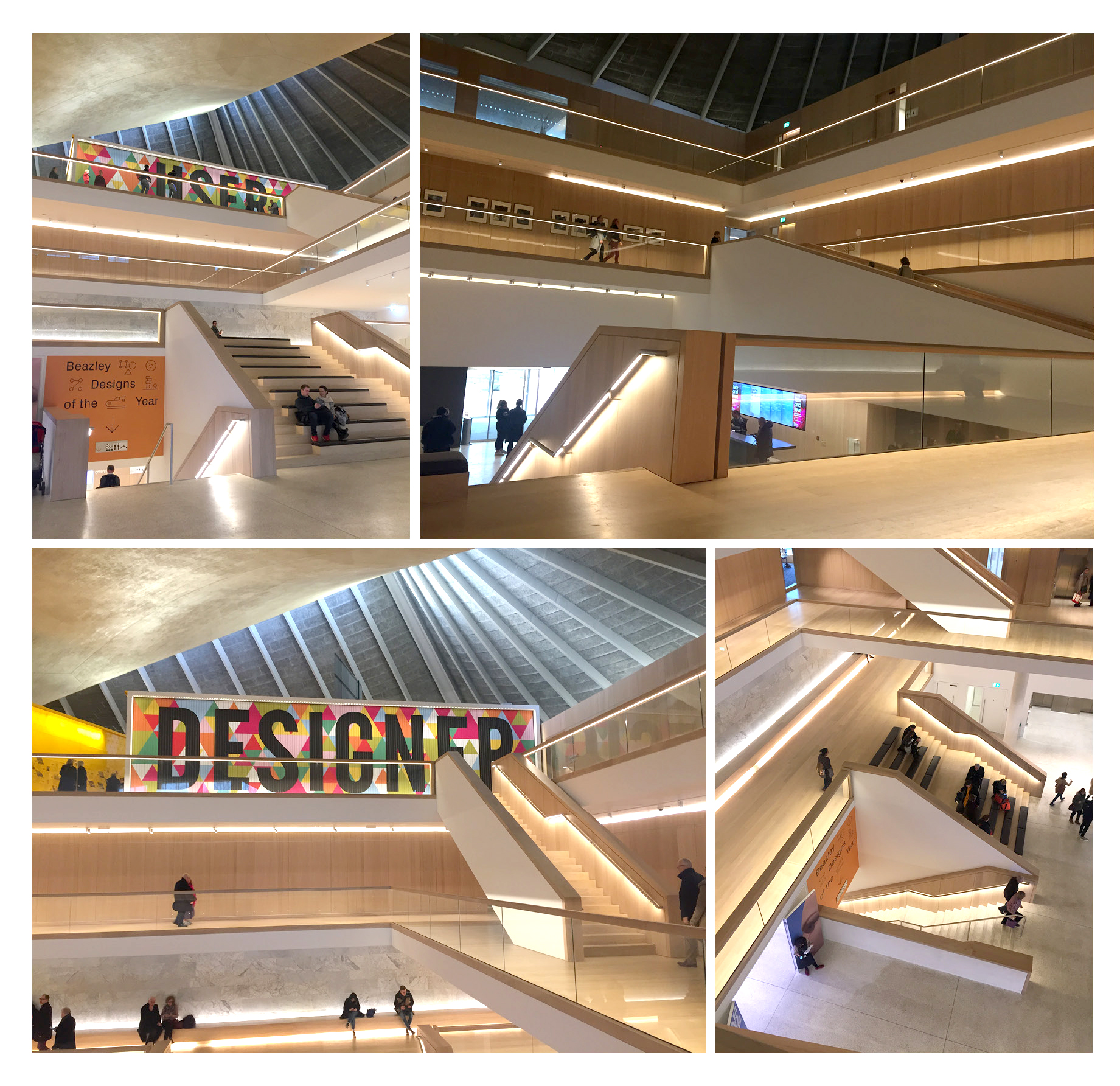 Interior shots of the musem