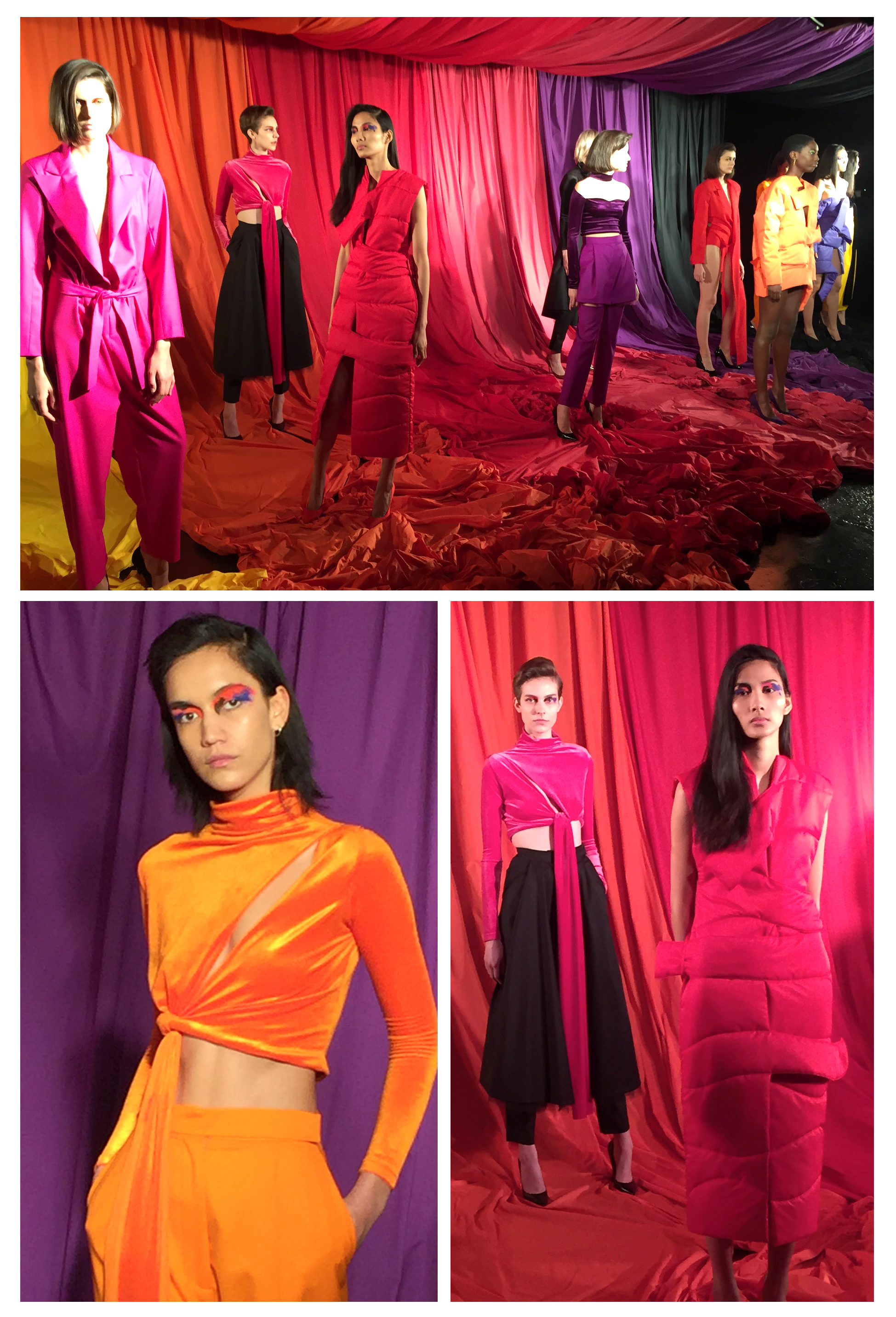 Marta Jakubowski's collection featured bright colours.