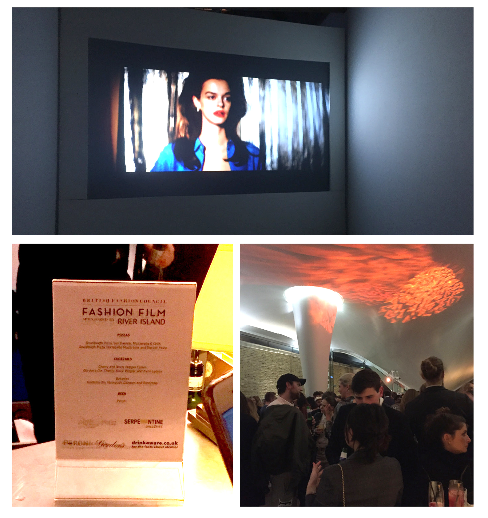 A great ending to the day at the BFC Fashion Film Screening at the Serpentine Gallery, Hyde Park