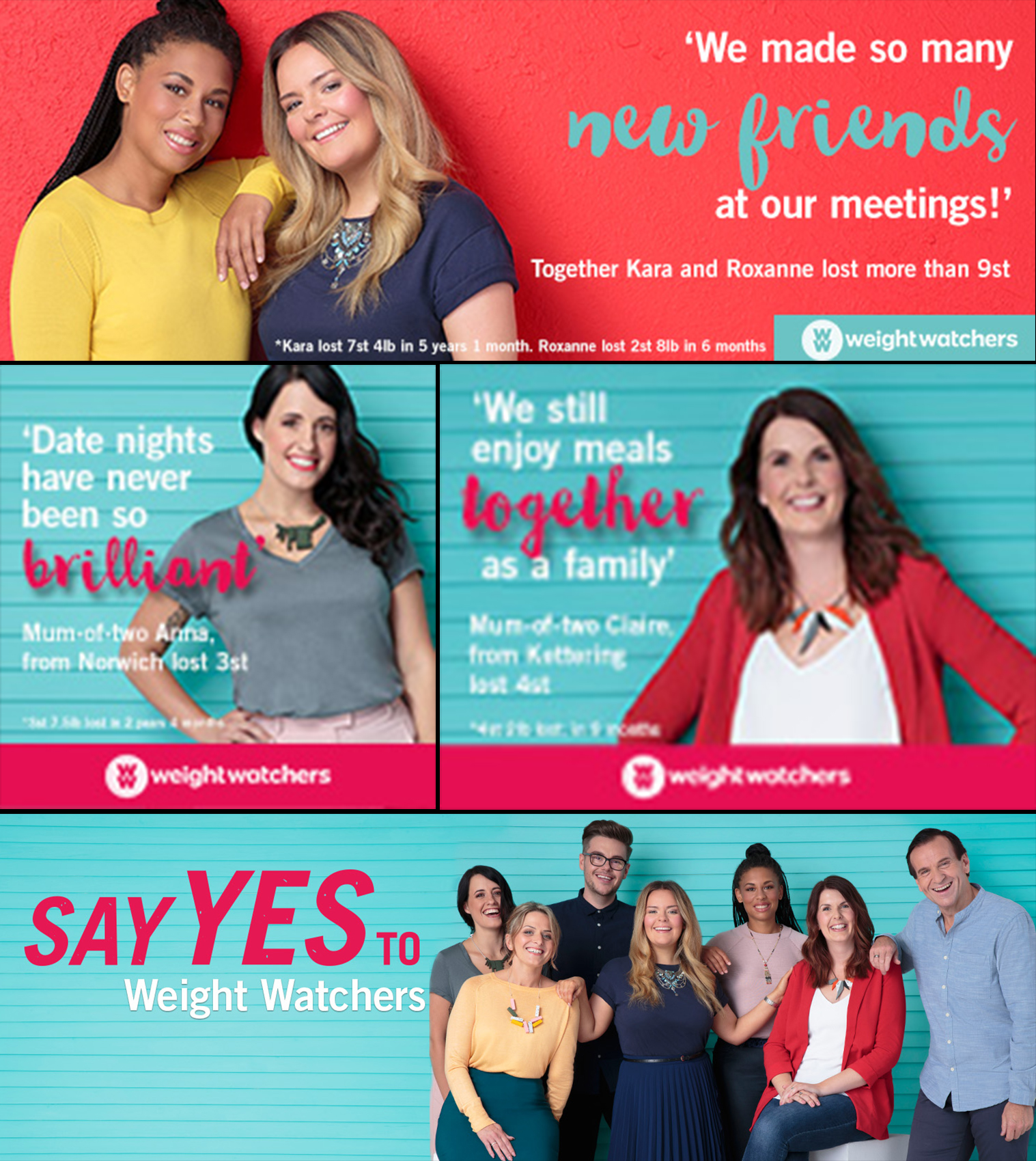 cial media banners for  Weight Watchers