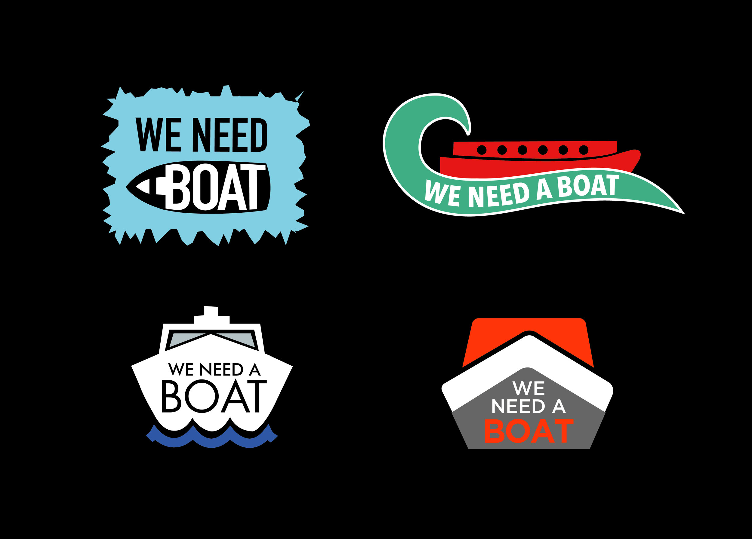 Logo designs for  We need a boat