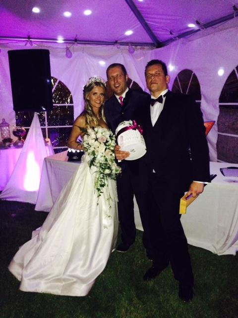 Bride & groom wedding dj up lights av setup Parkwood oshawa.jpg