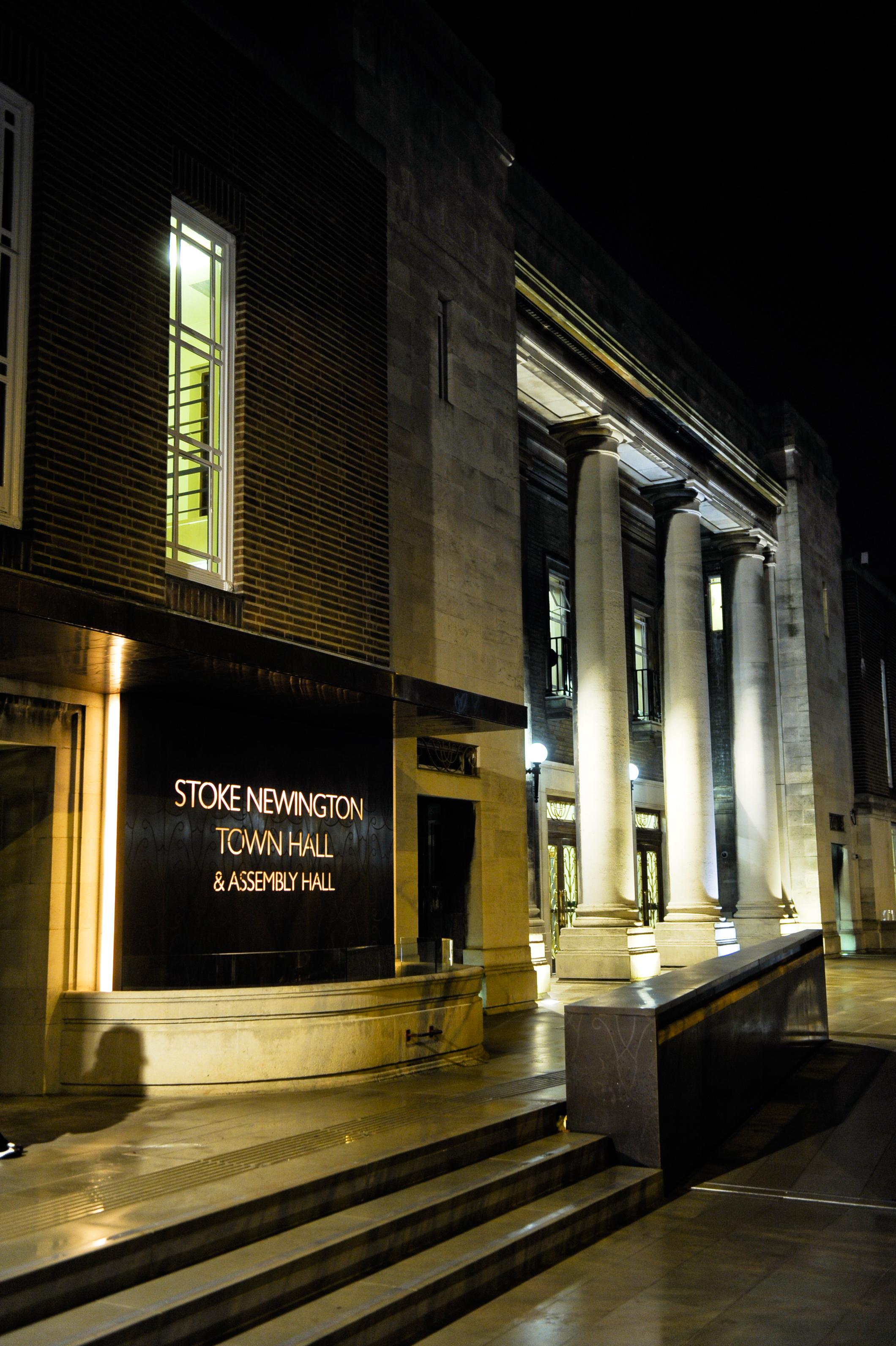 Entrance to Stoke Newington Town Hall