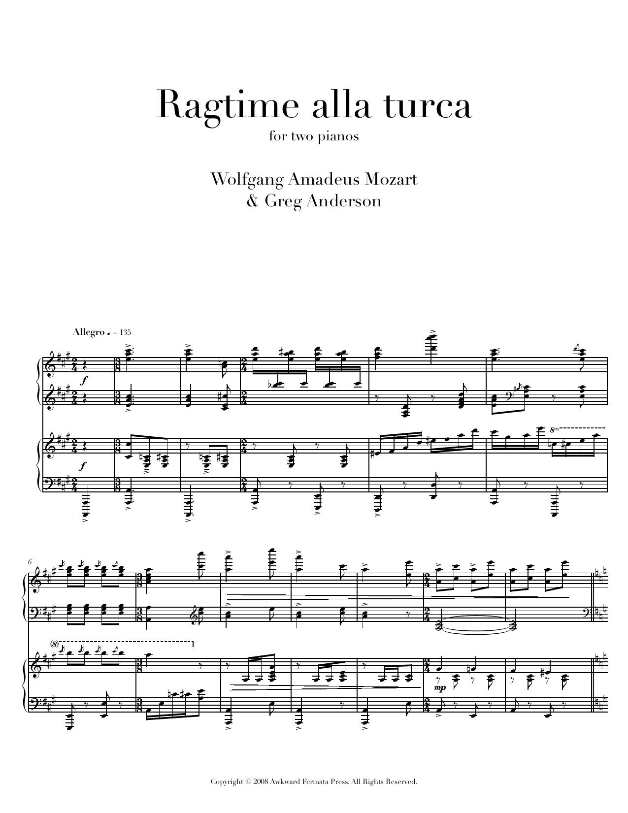 Alla Turca Mozart anderson: ragtime alla turca — greg anderson concert pianist