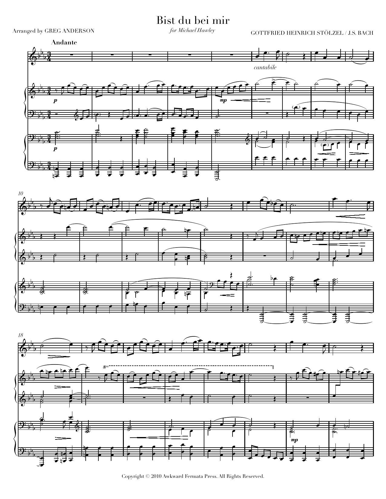 Bach Bist Du Bei Mir Greg Anderson Concert Pianist