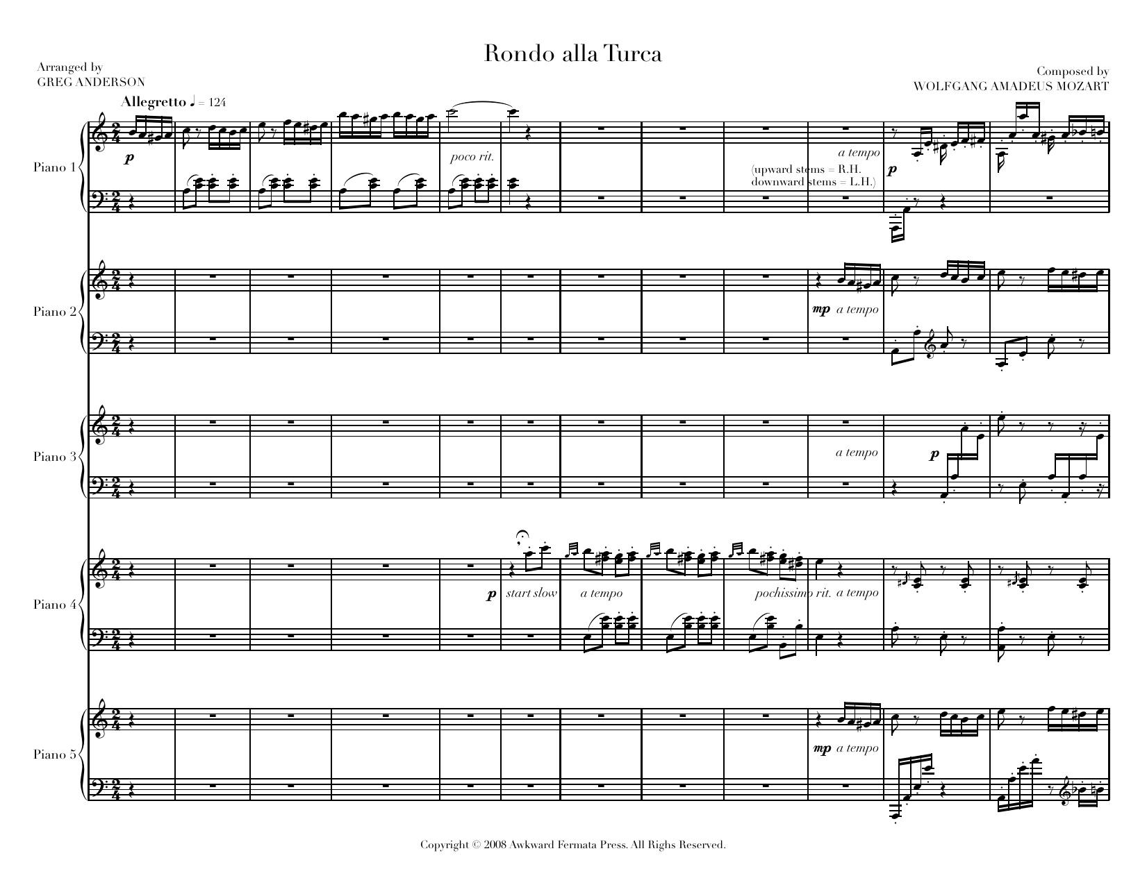 Alla Turca Mozart mozart: rondo alla turca — greg anderson concert pianist
