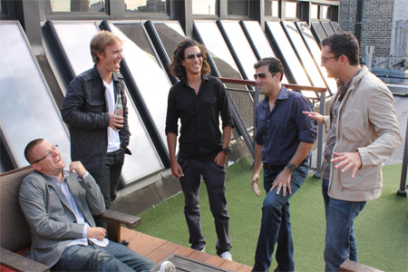 The Music Dealers Co-Founders: John Williamson (far left), Eric Sheinkop (middle) and Jonathan Sheinkop (2nd from right).