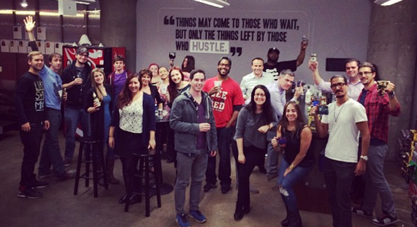 The Music Dealers Team in its Chicago office.
