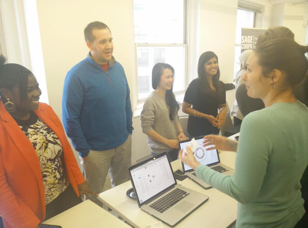 Weave the People Team at 1871 (from left: Camaree Turman, David Bakker, Sarah Laurie Huynh, and Preya Patel)